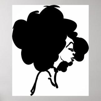 Afro Woman Print