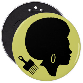 AFRO WOMAN Round Button