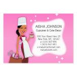 Afroamericano 3 de la plantilla de la tarjeta de v tarjetas de visita