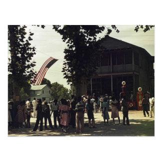 Afroamericano 4to de la celebración de julio postal