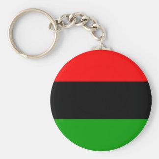 afroamericano afroamericano de la bandera llavero personalizado