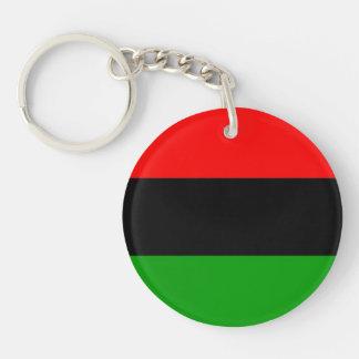afroamericano afroamericano de la bandera llavero