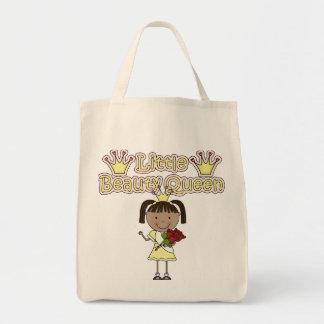 Afroamericano poca reina de belleza bolsa tela para la compra