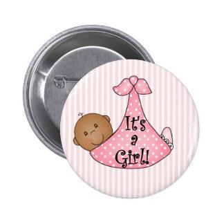 Afroamericano rosado es un chica pin