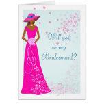 Afroamericano - tarjeta del banquete de boda