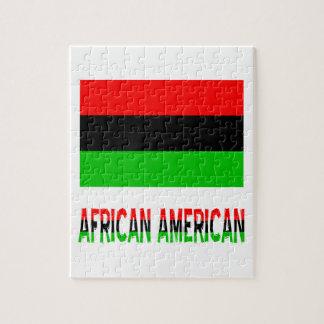 Afroamericano y palabras puzzle con fotos