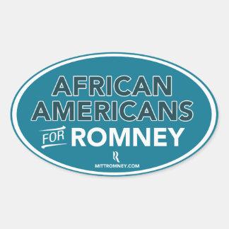 Afroamericanos para el pegatina de Mitt Romney