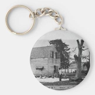 Afroamericanos que preparan algodón circa 1862 llavero redondo tipo pin