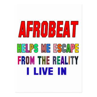 Afrobeat Helps Me Postcard