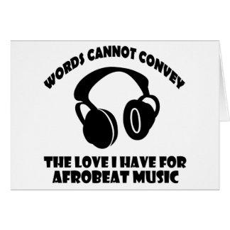 Afrobeat Music designs Card