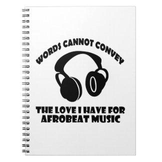 Afrobeat Music designs Spiral Notebook