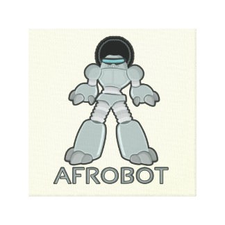 Afrobot - Robot with Afro Canvas Print