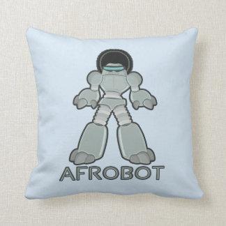 Afrobot - Robot with Afro Throw Pillow