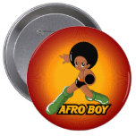 AfroBoy! Pinback Button