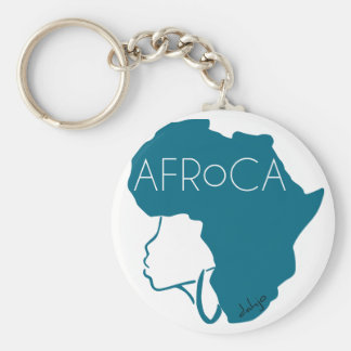 AFROCA . AFRO plus AFRICA (female) Key Chains