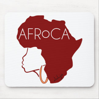 AFROCA . AFRO plus AFRICA (female) Mouse Pad