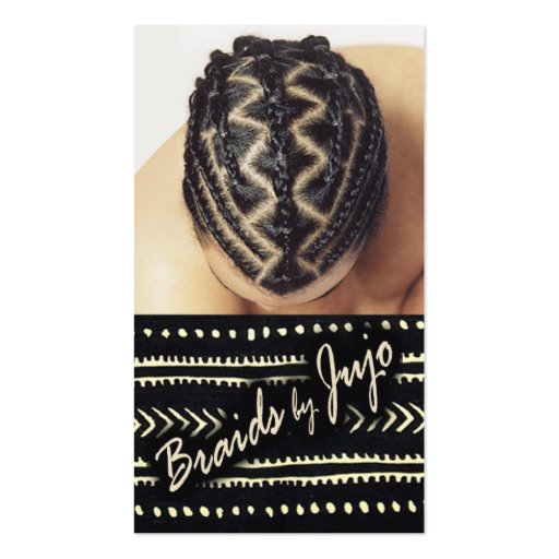 Afrocentric braids african cornrows hair stylist for Hair braiding business cards