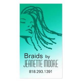Afrocentric Braids Hair Stylist - aqua Business Card