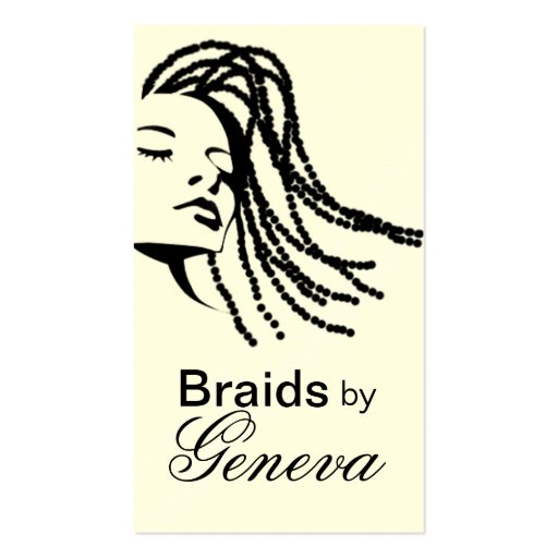 Afrocentric braids hair stylist black business card zazzle for Hair braiding business cards