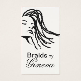 African american woman business cards templates zazzle afrocentric braids hair stylist black business card colourmoves Images