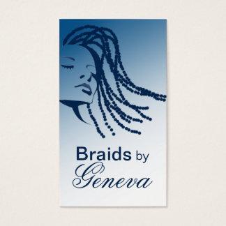 Afrocentric Braids Hair Stylist - blue Business Card