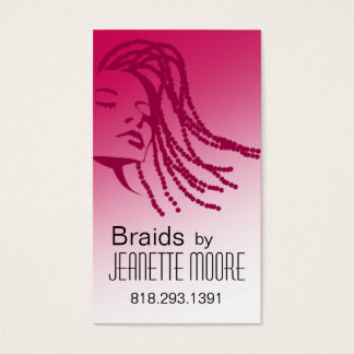 Afrocentric Braids Hair Stylist - fuschia Business Card