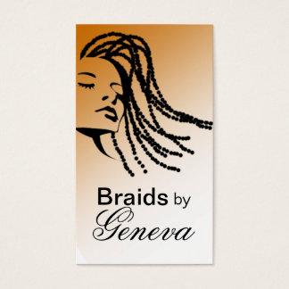 Afrocentric Braids Hair Stylist - tan Business Card