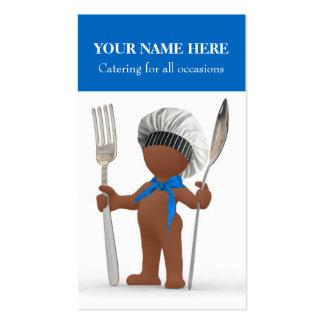 """Afrocentric """"cocinero fresco"""": Abastecimiento de Tarjetas De Visita"""