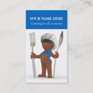 Cool chef business cards templates zazzle afrocentric cool chef cook cafe bistro catering business card reheart Image collections