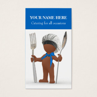"""Afrocentric """"Cool Chef"""": Cook Cafe Bistro Catering Business Card"""