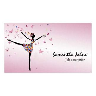 Afrocentric Dancer Ballerina Professional Stylist Business Card Templates