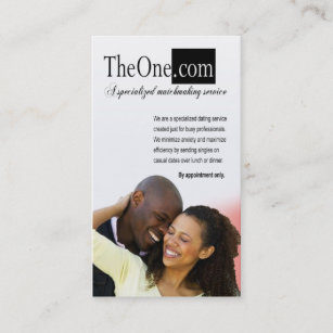 Dating service with business cards