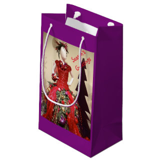 Afrocentric Dress Form Mannequin Christmas Tree Small Gift Bag
