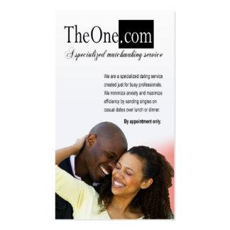 Afrocentric - el servicio de la datación, tarjetas de visita