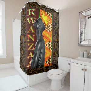 Afrocentric Kwanzaa Print Shower Curtain