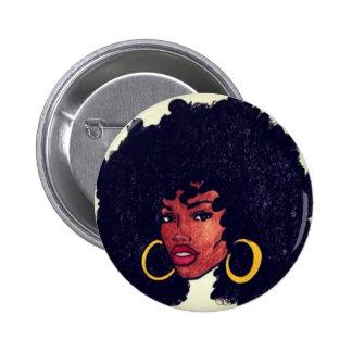Afrocentric Pin Redondo De 2 Pulgadas