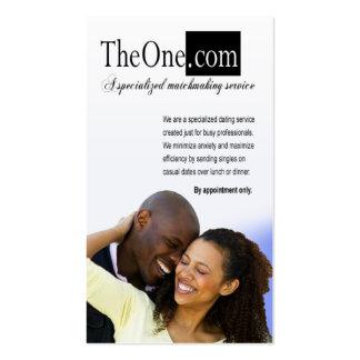 Afrocentric - servicio de la datación, tarjetas de visita
