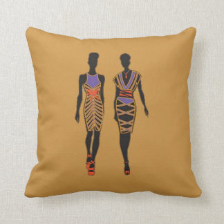 Afrocentric Silhouette 2 Sided Pillow