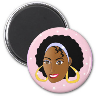 AfroGirl.ai 2 Inch Round Magnet