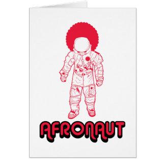Afronaut Tarjeta De Felicitación