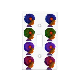 Afros de la silueta de la placa del interruptor de cubierta para interruptor