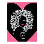 Afros es postal del amor