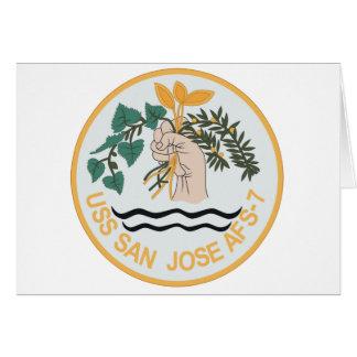 AFS-7 USS SAN JOSE MARS CLASS COMBAT STORES SHIP M CARD