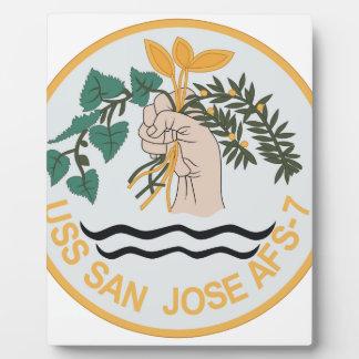 AFS-7 USS SAN JOSE MARS CLASS COMBAT STORES SHIP M PLAQUE
