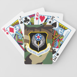 afsoc logo camo Playing Cards