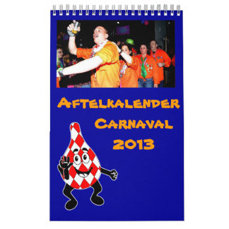 Aftelkalender carnaval 2013 calendar