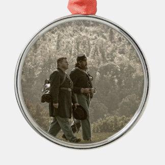 After a Long Battle Metal Ornament