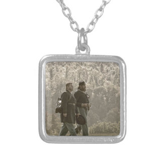 After a Long Battle Silver Plated Necklace
