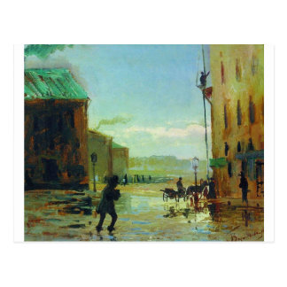 After a Rain (Spring in St. Petersburg) by Fyodor Postcard