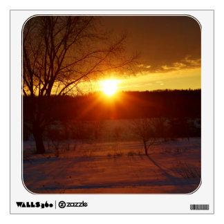 After A Snowstorm Sunset Wall Decal